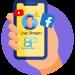 Icon Live Stream Social Media