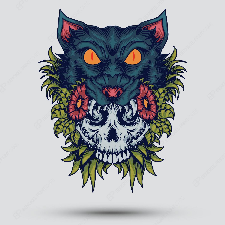 Tengkorak Serigala Asia